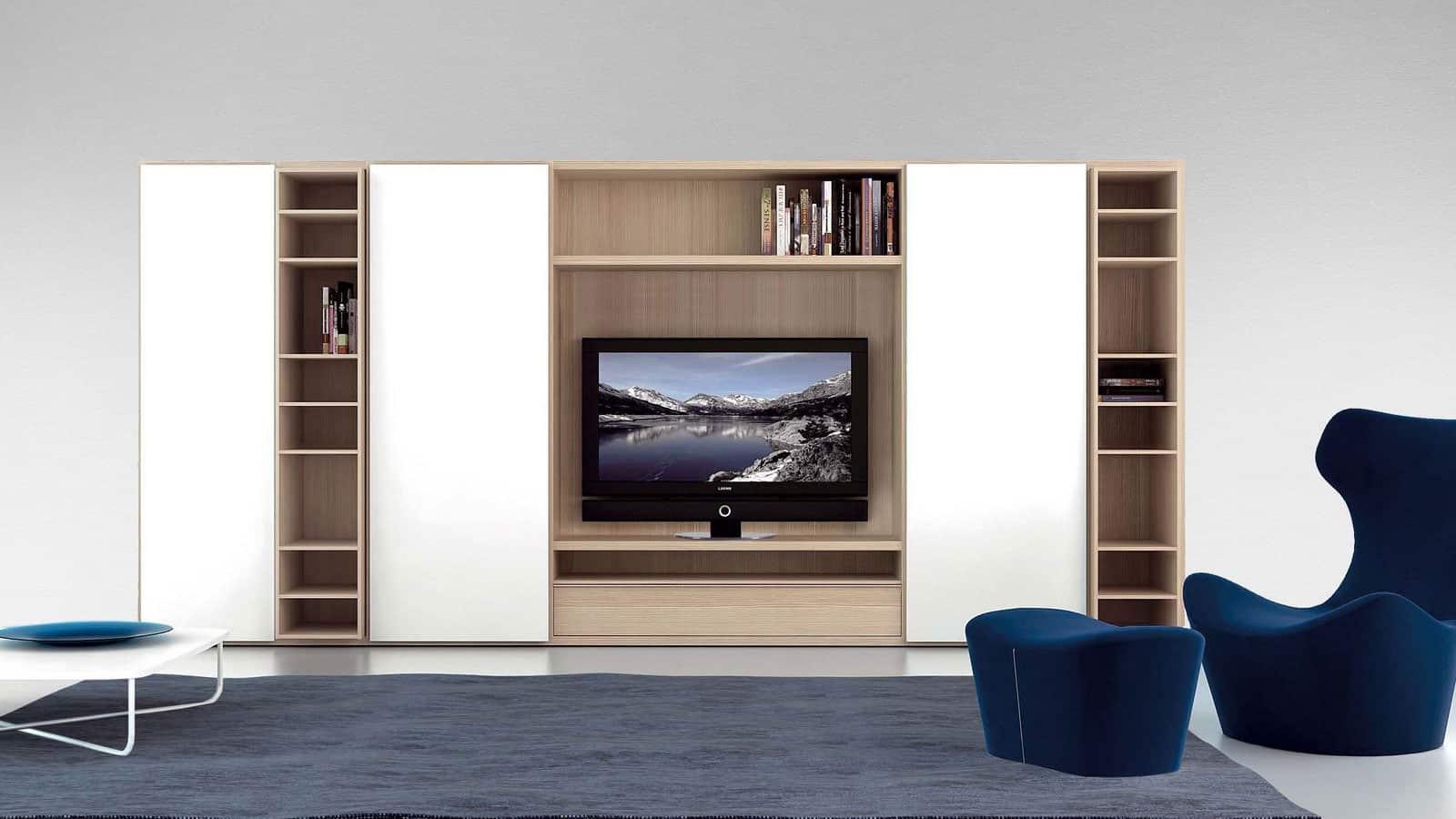 Meuble Tv Avec Bibliothèque meuble tv bibliothèque | salon | optimal annecy