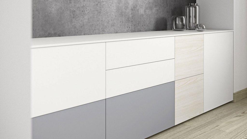 bahut blanc gris bois annecy