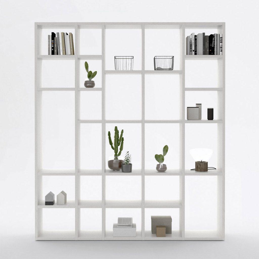 cloison amovible bibliothèque blanche