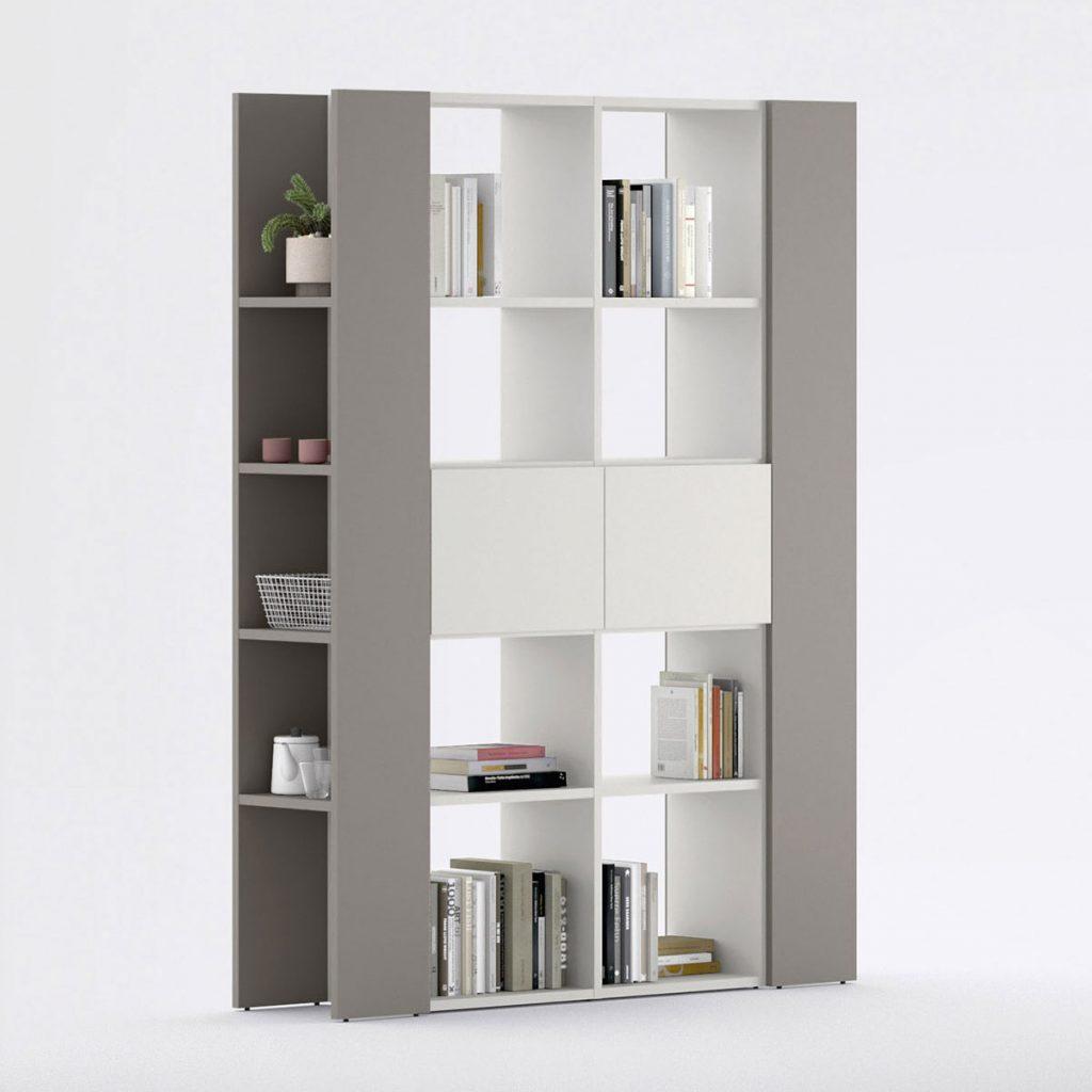 bibliothèque séparation de pièces