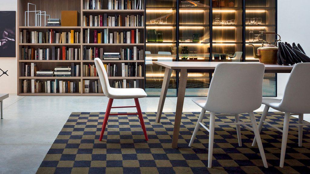 bibliothèque design annecy modulaire bois