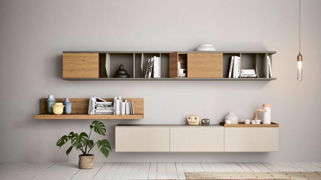 bibliothèque design suspendue lausanne bois