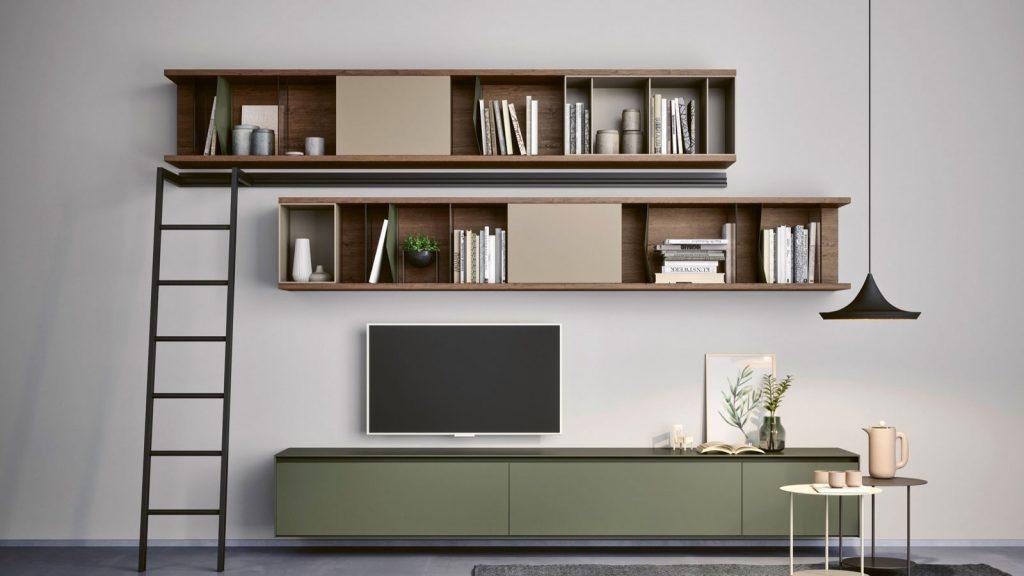 bibliothèque design suspendue lausanne bois vert