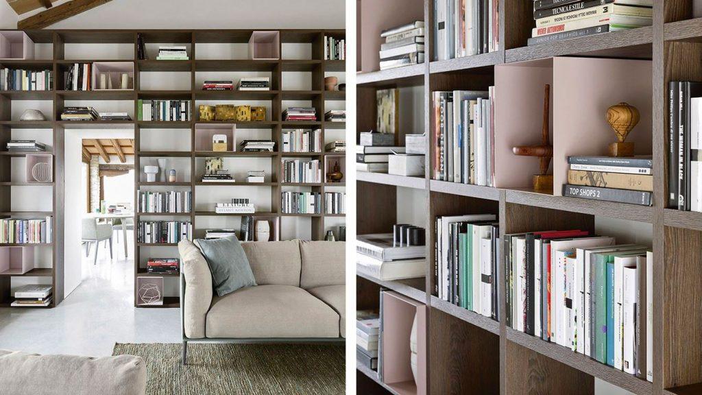 bibliothèque design modulaire bois
