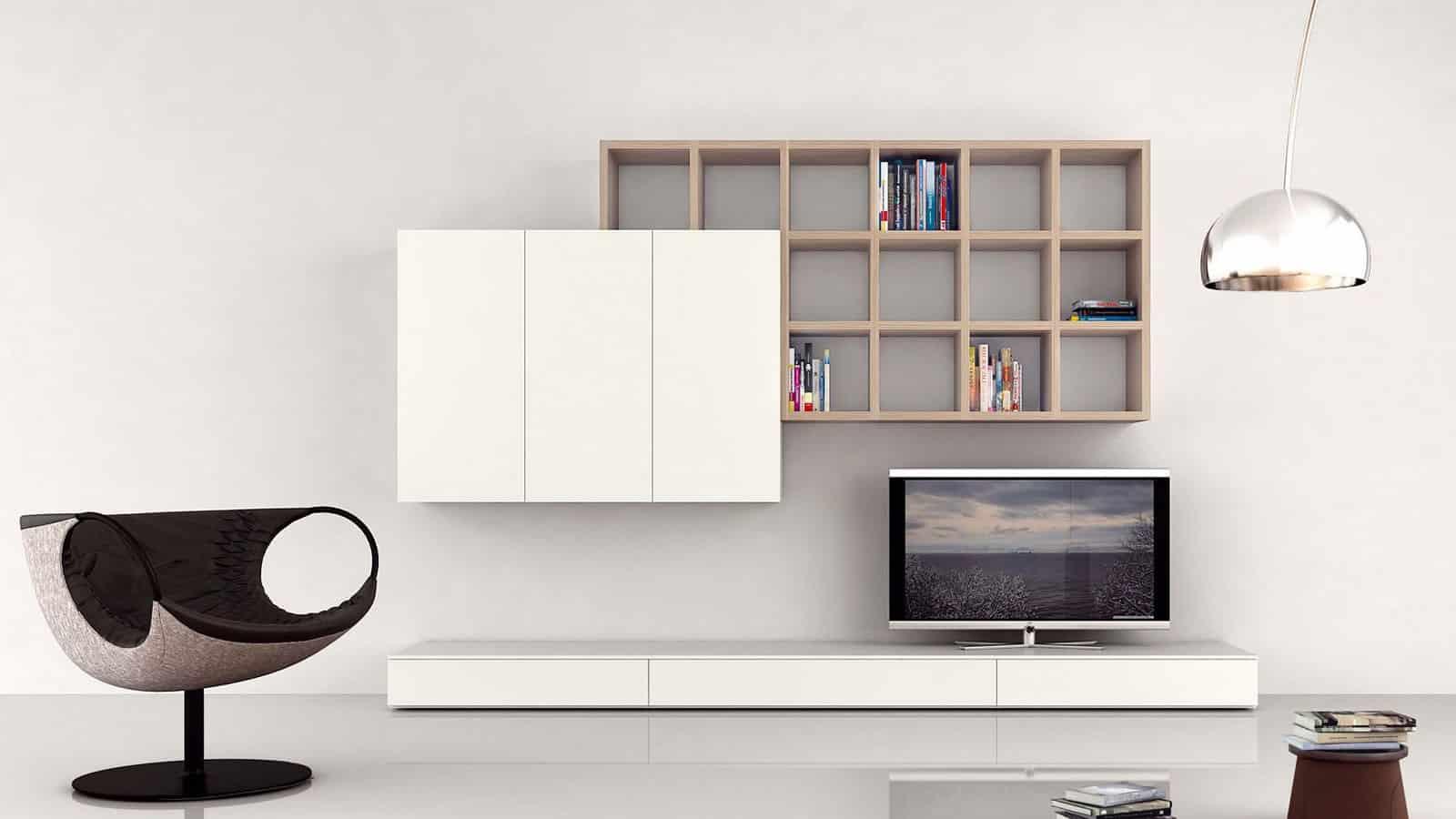Meuble Tv Living Salon meuble tv mural | salon | optimal annecy