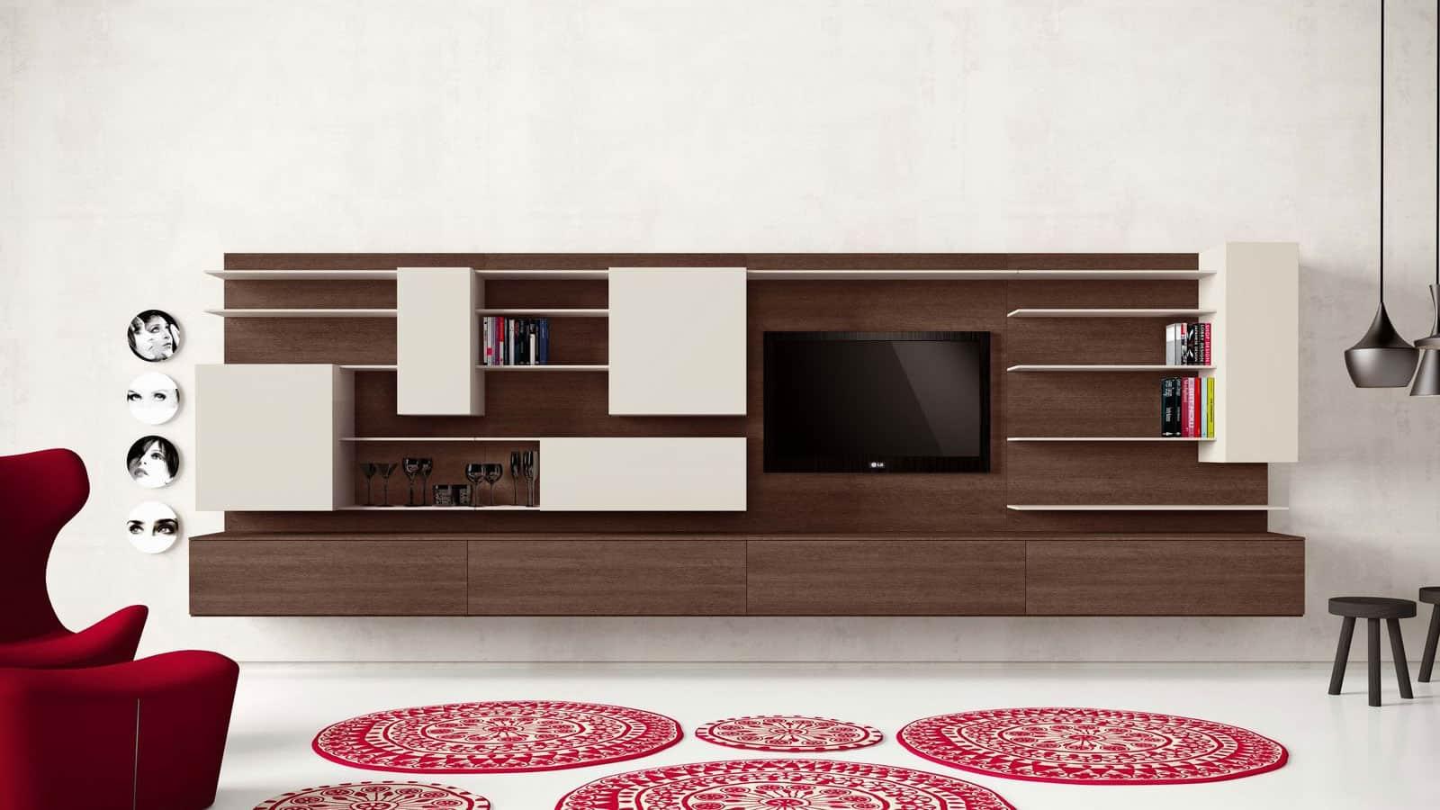 Deco Murale Au Dessus Tele meuble tv mural   salon   optimal annecy