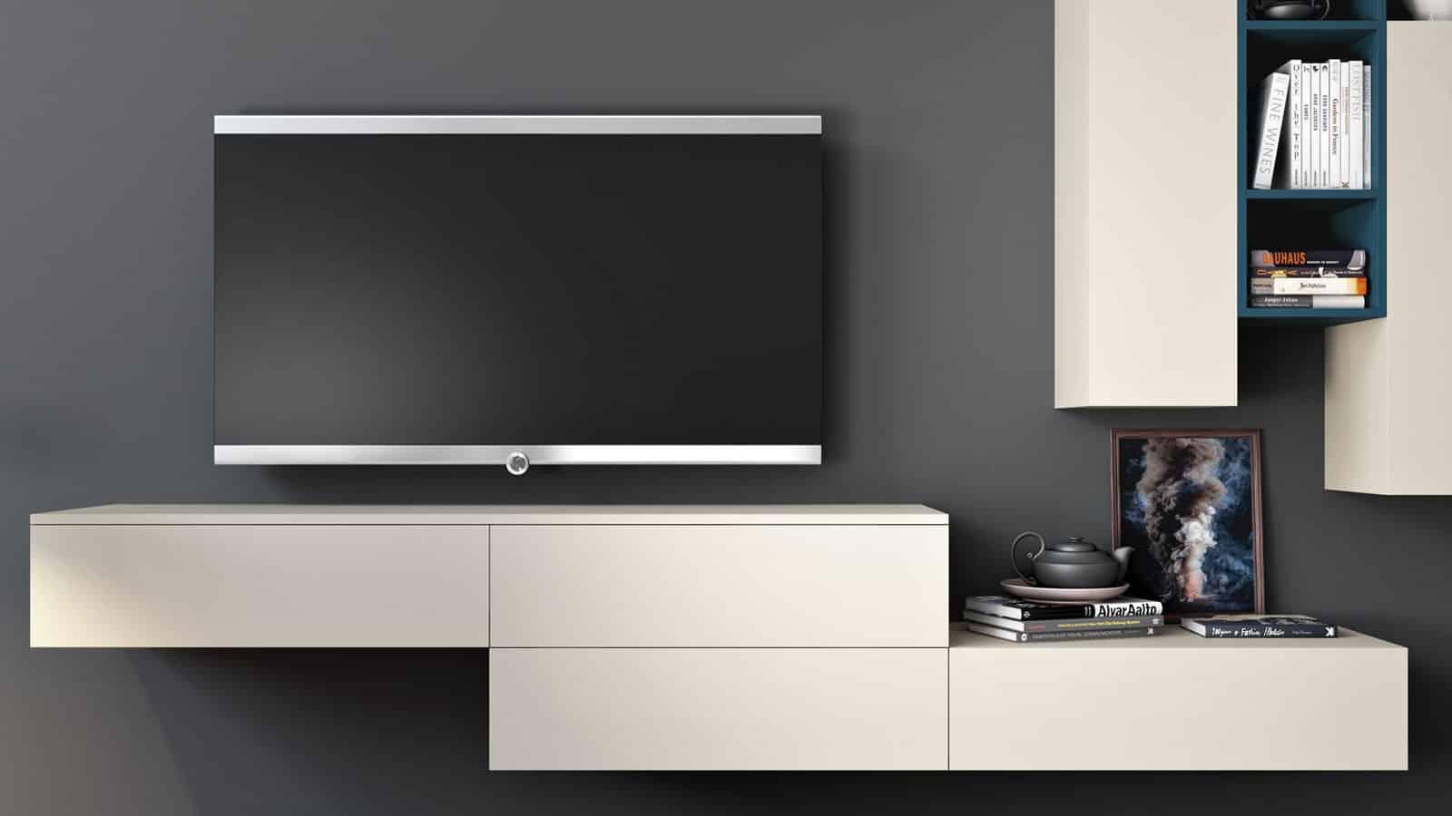 Meuble Tv Grande Taille meuble tv suspendu | salon | optimal annecy