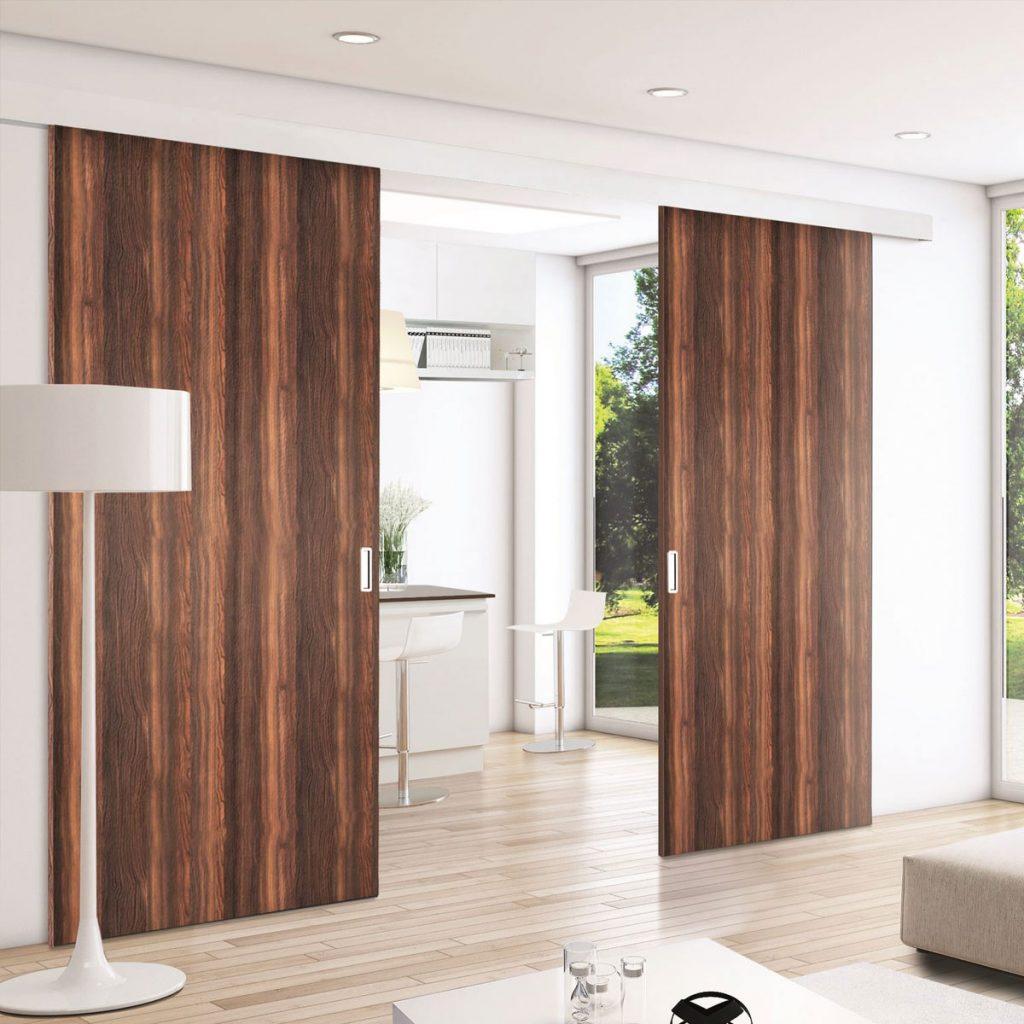 cloison amovible bois coulissante