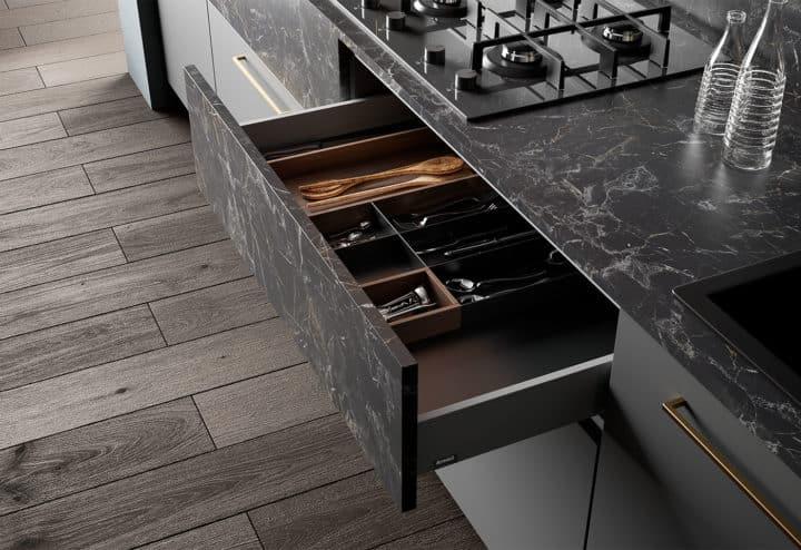 aménagement cuisine tiroir