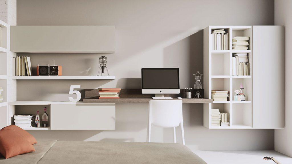 mobilier de bureau annecy beige bois