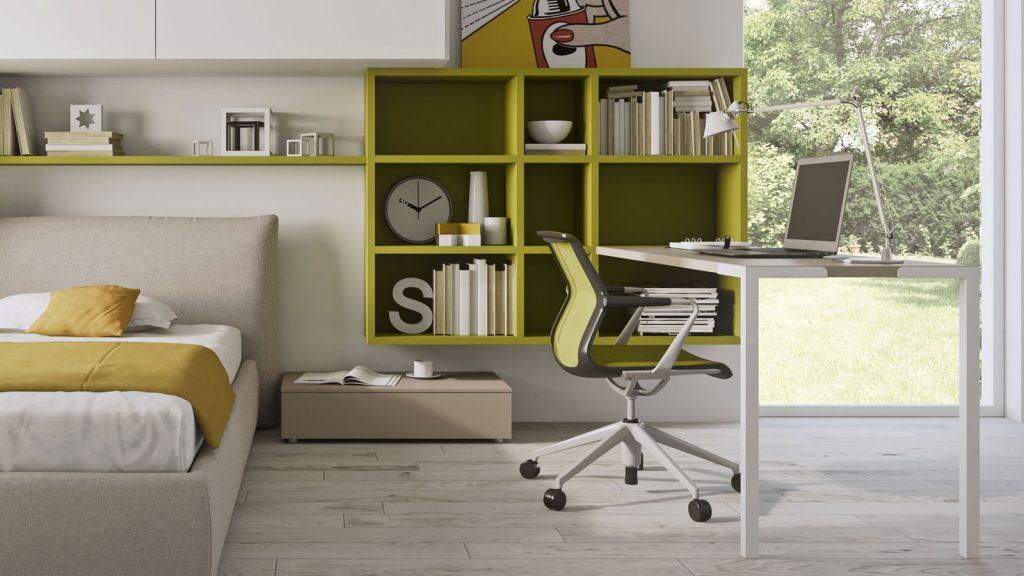 bureau blanc vert