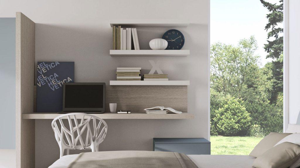 mobilier de bureau bois blanc