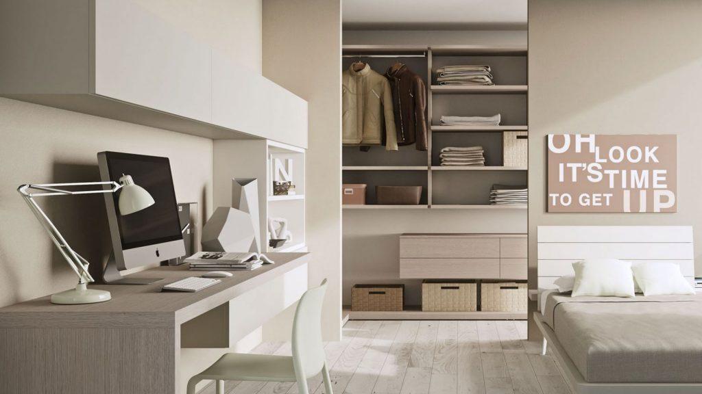 bureau bois blanc