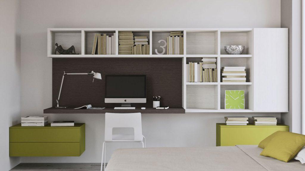 mobilier de bureau annecy vert et blanc