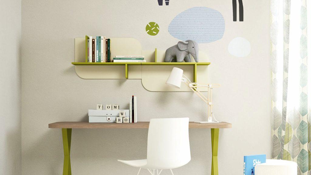 mobilier de bureau enfant vert