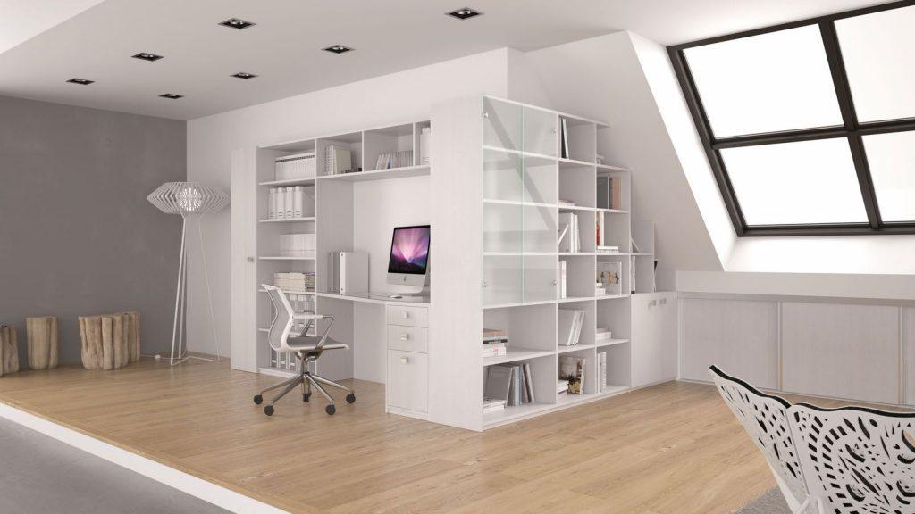 bureau maison blanc