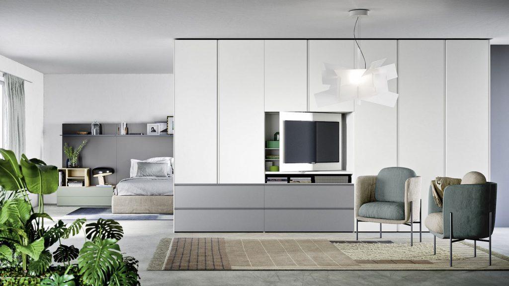 armoire avec panneau TV