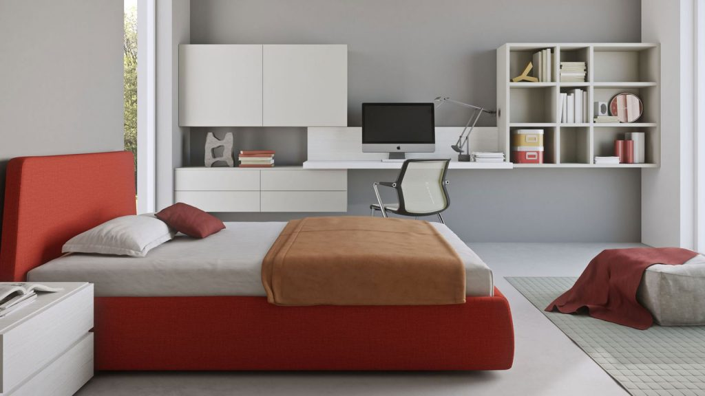 chambre ado annecy rouge