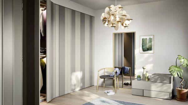 armoire portes plissées