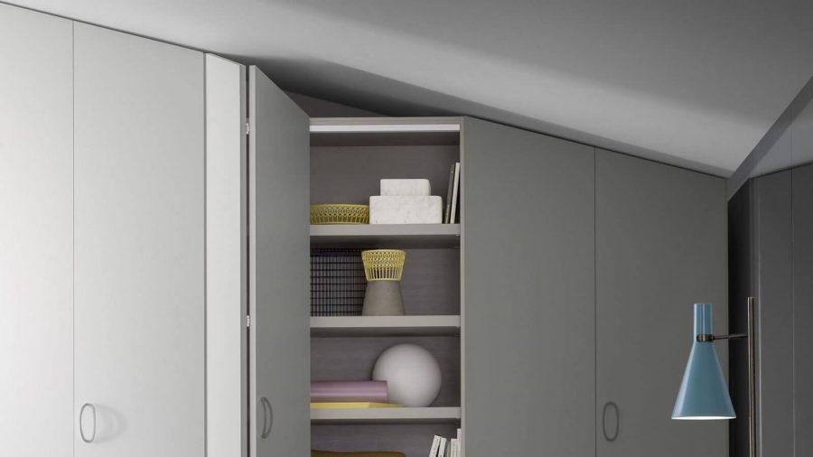 armoire sur mesure grise