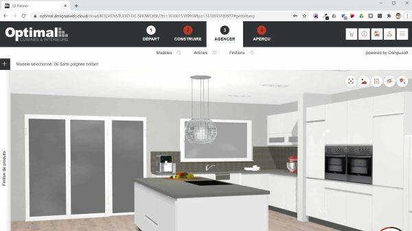 conception cuisine en ligne 3D Optimal