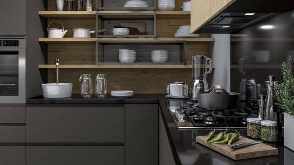 cuisine style industriel plaques cuisson