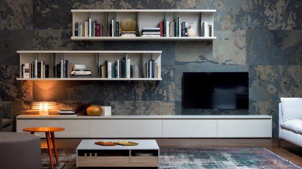 meuble télé blanc