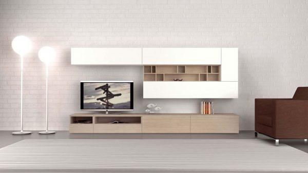 meuble tv design blanc bois genève